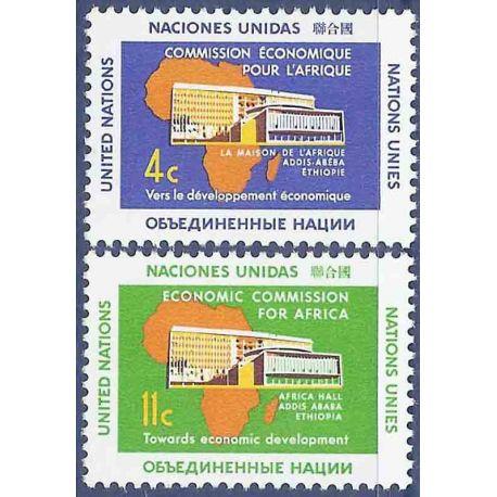 Briefmarkensammlung UNO New York N° Yvert und Tellier 91/92 neun ohne Scharnier
