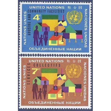 Briefmarkensammlung UNO New York N° Yvert und Tellier 96/97 neun ohne Scharnier