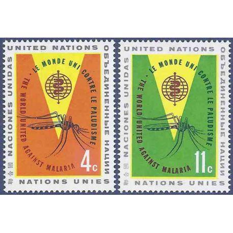 Briefmarkensammlung UNO New York N° Yvert und Tellier 98/99 neun ohne Scharnier