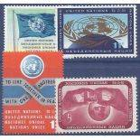 Timbre collection ONU New-York N° Yvert et Tellier 100/103 Neuf sans charnière