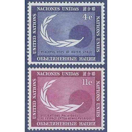 Briefmarkensammlung UNO New York N° Yvert und Tellier 108/109 neun ohne Scharnier