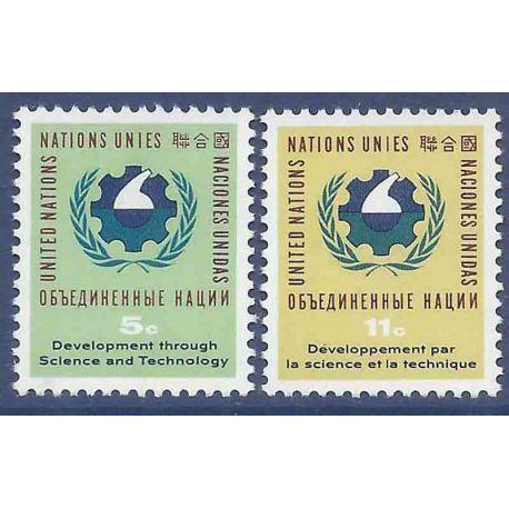 Briefmarkensammlung UNO New York N° Yvert und Tellier 110/111 neun ohne Scharnier