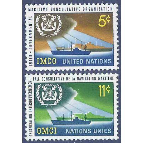 Briefmarkensammlung UNO New York N° Yvert und Tellier 119/120 neun ohne Scharnier