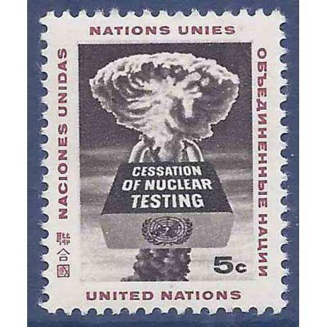 Briefmarkensammlung UNO New York N° Yvert und Tellier 129 neun ohne Scharnier