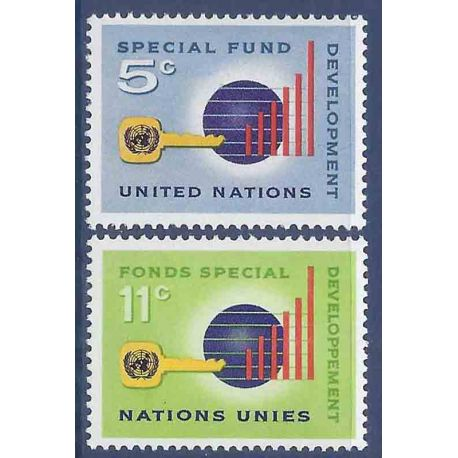 Briefmarkensammlung UNO New York N° Yvert und Tellier 133/134 neun ohne Scharnier