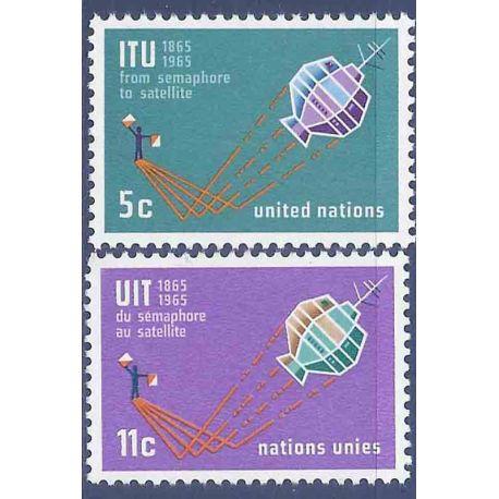 Briefmarkensammlung UNO New York N° Yvert und Tellier 137/138 neun ohne Scharnier