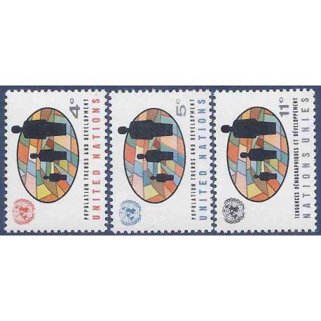 Briefmarkensammlung UNO New York N° Yvert und Tellier 145/147 neun ohne Scharnier