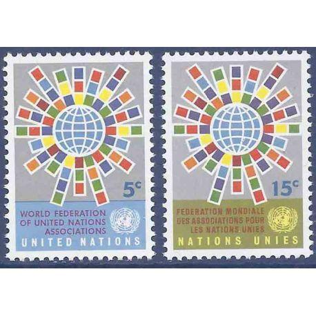 Briefmarkensammlung UNO New York N° Yvert und Tellier 148/149 neun ohne Scharnier