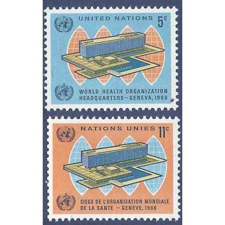Briefmarkensammlung UNO New York N° Yvert und Tellier 151/152 neun ohne Scharnier