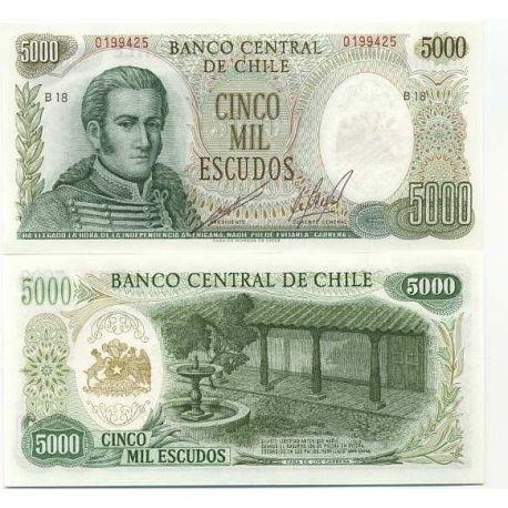 Billets collection Chili Pk N° 147 - 5000 Escudo