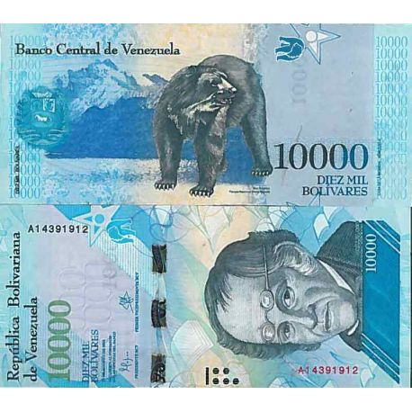 Billet de banque collection Venezuela - PK N° 999 - 10 000 Bolivares
