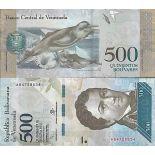 Billete de banco colección Venezuela - PK N° 94 - 500 Bolivares
