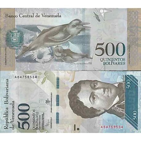 Billet de banque collection Venezuela - PK N° 999 - 500 Bolivares