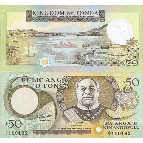 Billets de collection Billet de banque collection Tonga - PK N° 36 - 50 Pa'anga Billets du Tonga 127,00 €
