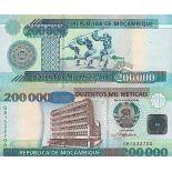 Banknote Sammlung Mosambik - PK Nr. 141 - 200.000 Meticais