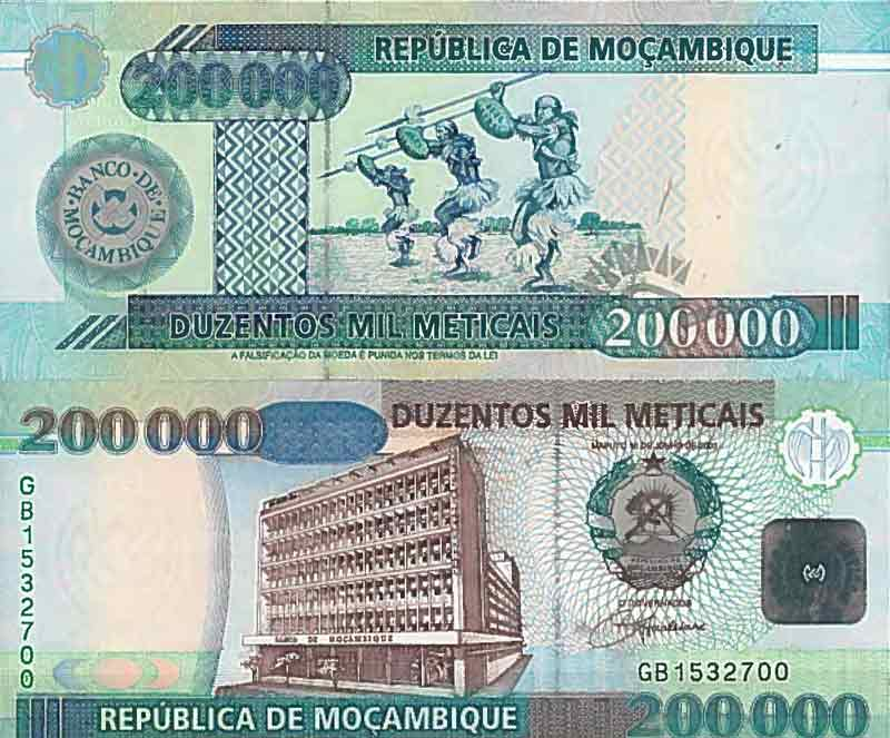 Banknote Mozambique collection - PK N° 141 - 200,000