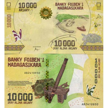 Billet de banque collection Madagascar - PK N° 999 - 10 000 Francs