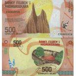 Biglietto di banca raccolta Madagascar - PK N° 99 - 500 franchi