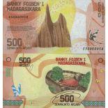 Billete de banco colección Madagascar - PK N° 99 - 500 Francos