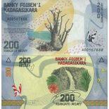 Billete de banco colección Madagascar - PK N° 98 - 200 Francos