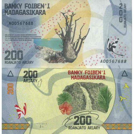 Billets de collection Billet de banque collection Madagascar - PK N° 98 - 200 Francs Billets de Madagascar 1,00 €