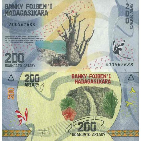 Billet de banque collection Madagascar - PK N° 999 - 200 Francs