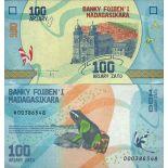 Biglietto di banca raccolta Madagascar - PK N° 97 - 100 franchi