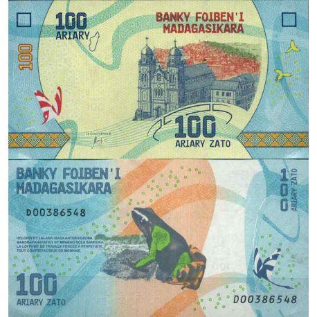 Billet de banque collection Madagascar - PK N° 999 - 100 Francs