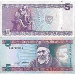 Biglietto di banca raccolta Lituania - PK N° 55 - 5 bendarono