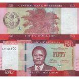 Billet de banque collection Liberia - PK N° 34 - 50 Dollars