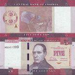 Billete de banco colección Liberia - PK N° 31 - 5 Dólares