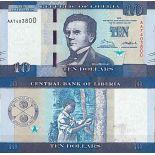 Biglietto di banca raccolta Liberia - PK N° 32 - 10 dollari
