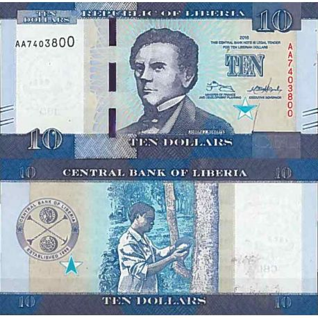 Billets de collection Billet de banque collection Liberia - PK N° 32 - 10 Dollars Billets du Liberia 2,00 €