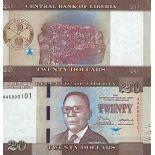 Biglietto di banca raccolta Liberia - PK N° 33 - 20 dollari
