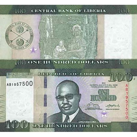 Billets de collection Billet de banque collection Liberia - PK N° 35 - 100 Dollars Billets du Liberia 9,00 €