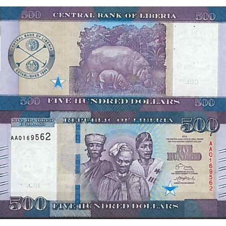 Billets de collection Billet de banque collection Liberia - PK N° 36 - 500 Dollars Billets du Liberia 22,00 €