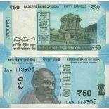 Banknote Sammlung Indien - PK Nr. 111 - 50 Rupee