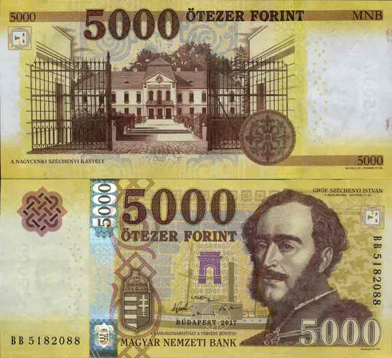 Banknote Hungary collection - PK N° 205 - 5,000 Forint
