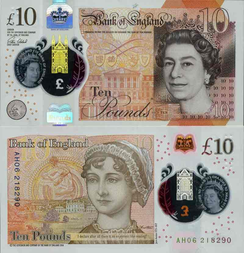 billet de banque grande bretagne