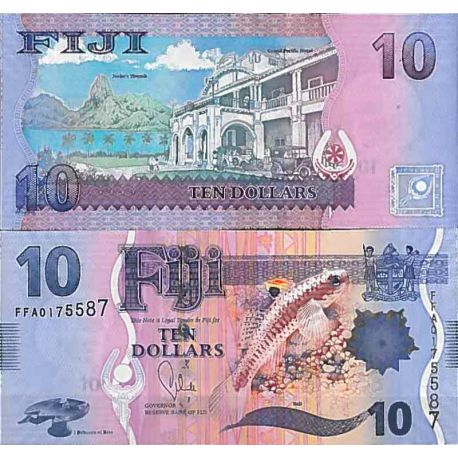 Billets de collection Billet de banque collection Fidji - PK N° 116 - 10 Dollars Billets des Fidji 16,00 €