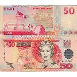 Biglietto di banca raccolta Figi - PK N° 108 - 50 dollari