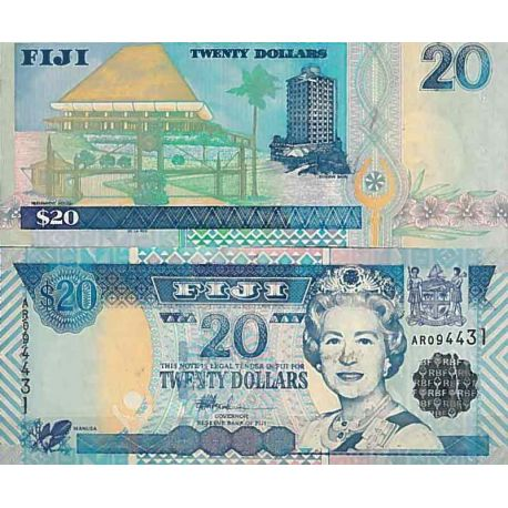 Billets de collection Billet de banque collection Fidji - PK N° 107 - 20 Dollars Billets des Fidji 33,00 €