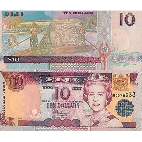 Billets de collection Billet de banque collection Fidji - PK N° 106 - 10 Dollars Billets des Fidji 20,00 €