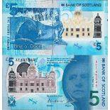 Biglietto di banca raccolta Scozia - PK N° 370 - 5 libro
