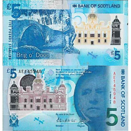 Billets de collection Billet de banque collection Ecosse - PK N° 370 - 5 livre Billets d'Ecosse 26,00 €