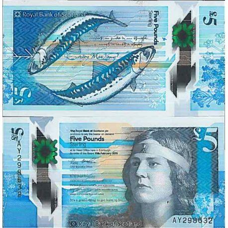 Billet de banque collection Ecosse - PK N° 999 - 5 livre