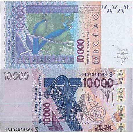 Billets de collection Billet de banque collection Afrique de l'Ouest Guinée Bissau - PK N° 918S - 10 000 Francs Billets de Gu...