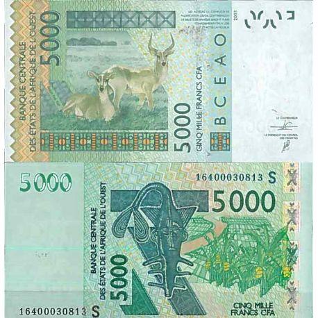 Billets de collection Billet de banque collection Afrique de l'Ouest Guinée Bissau - PK N° 917S - 5 000 Francs Billets de Gui...