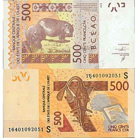 Billets de collection Billet de banque collection Afrique de l'Ouest Guinée Bissau - PK N° 919S - 500 Francs Billets de Guiné...