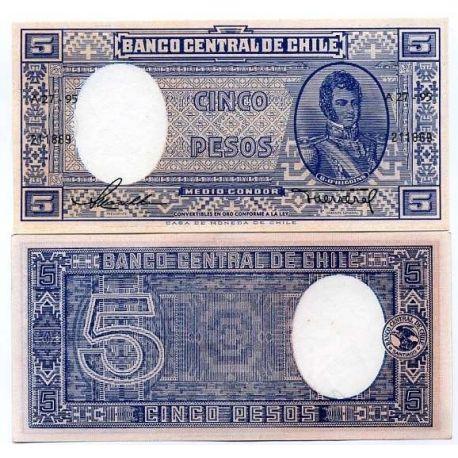 Chili - Pk N° 119 - Billet de 5 Pesos